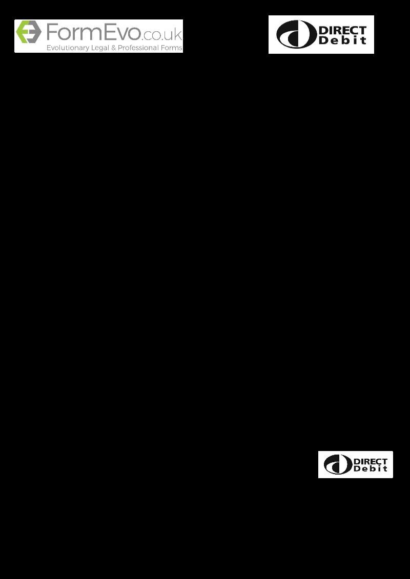 FormEvo DD FormEvo Direct Debit mandate form – Direct Debit Form