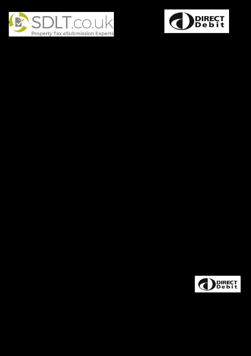 SDLT DD SDLTcouk Direct Debit mandate form – Direct Debit Form